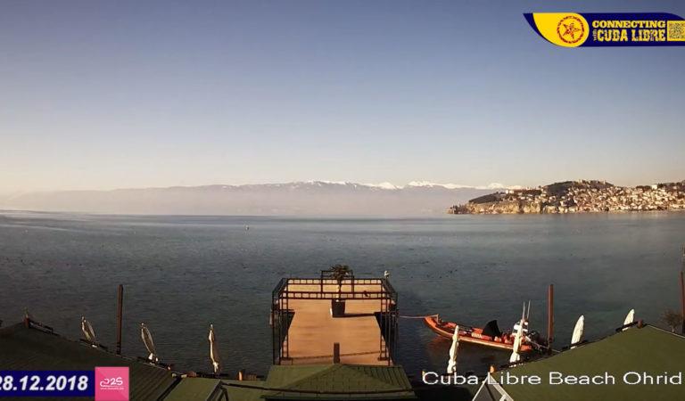 од утро до залез Охрид во 45 секунди 28.12.2018 (видео)