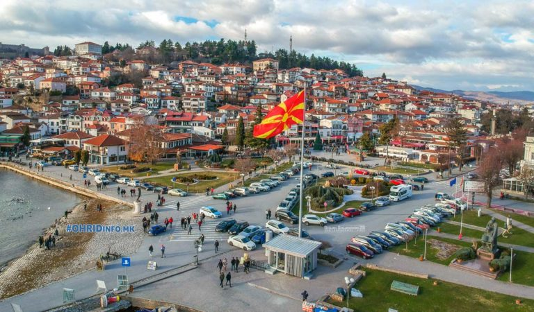 Охрид неколку часа пред Нова година низ фото и видео