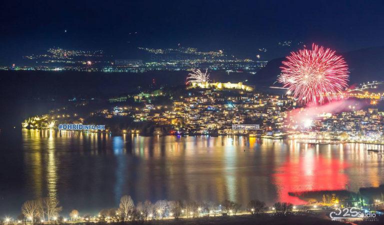 Охрид ја дочека 2019 година, видео од дрон