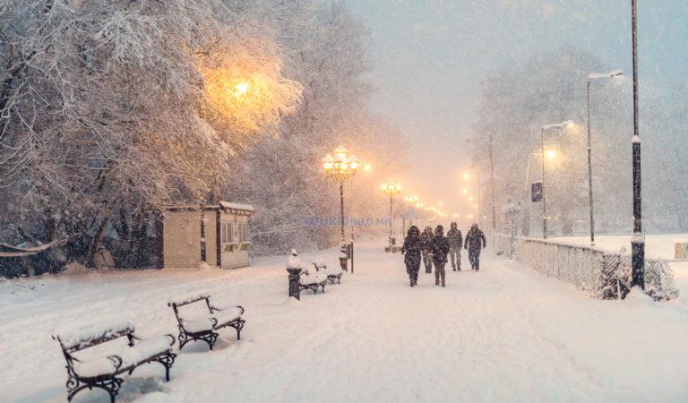 Магични фотографии со снег вечерва од патеката Студенчишта Охрид