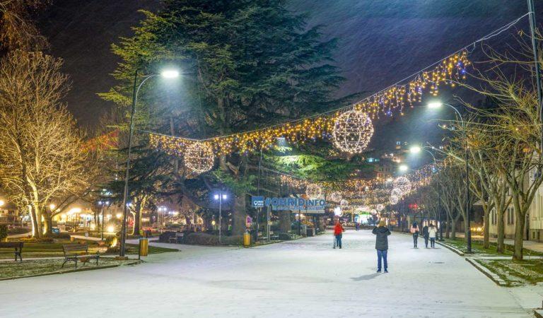 Охрид вечерва низ снежно видео