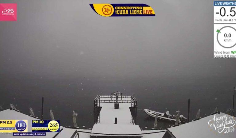 Следете во живо, интензивни врнежи на снег во Охрид