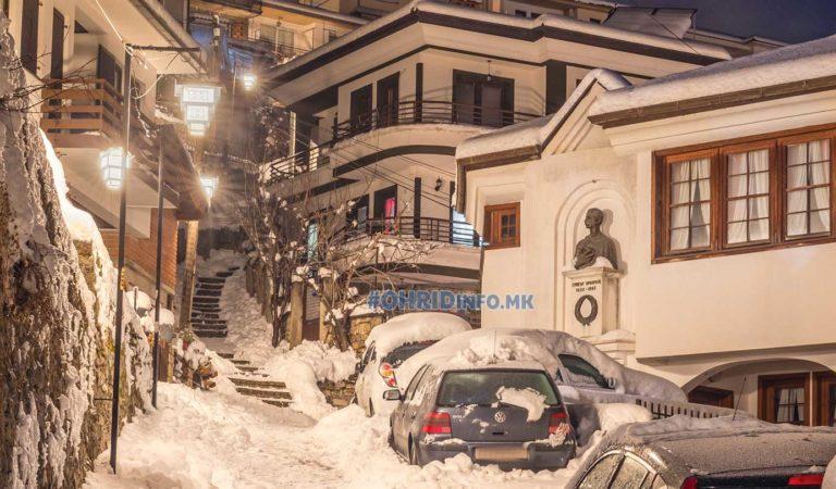 Зимска фотографија од куќата на Григор Прличев (фото)