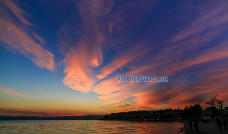 Фото: Пролетно зајдисонце над Охрид
