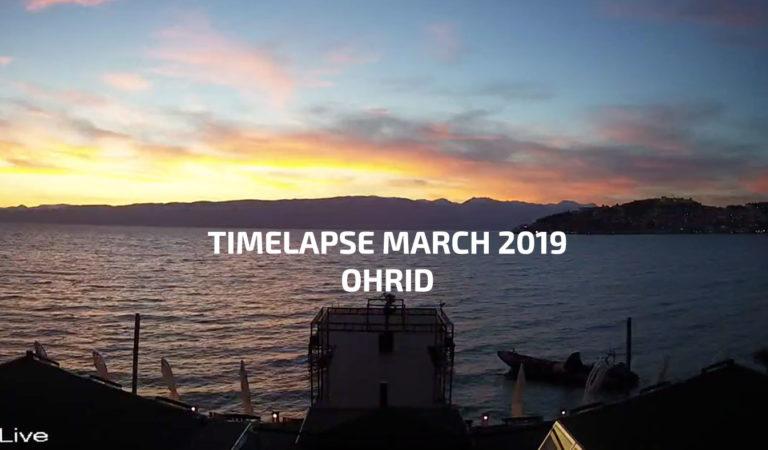 Видео: 90 секунди Охрид во Март забрзано видео