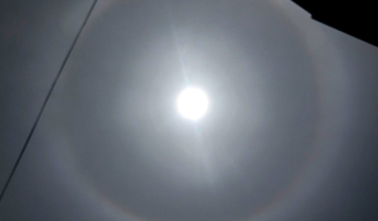 Фото: Редок феномен околу сонцето денеска над Охрид
