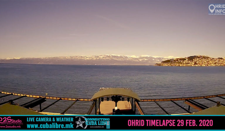 Видео Timelapse: Целодневно видео од Охрид – 29 Февруари 2020