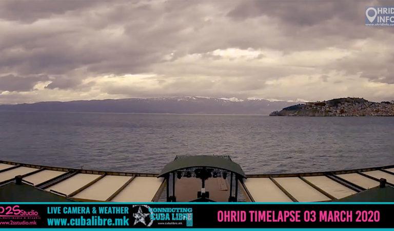 Видео Timelapse: 03 Март 2020 – Целодневно видео од Охрид