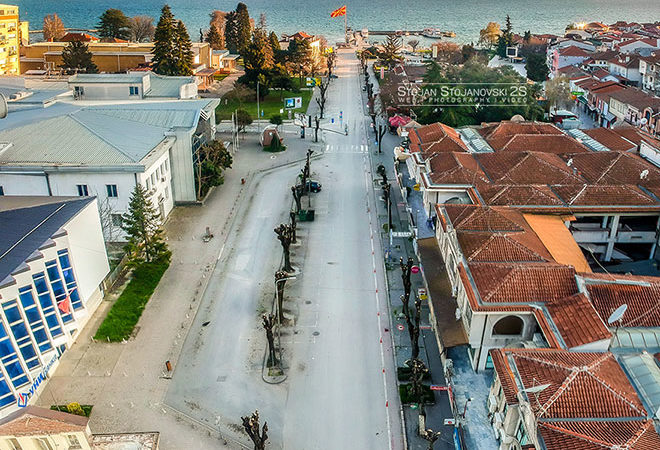 Фото: Центарот во Охрид од дрон како што не сте го виделе досега