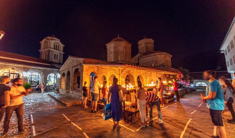 Фото: Одбележан празникот во Св. Наум со високо ниво на свест и почитување на мерките