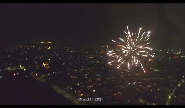 Видео livestream од дрон: Дочекот на новата година 2021 во Охрид