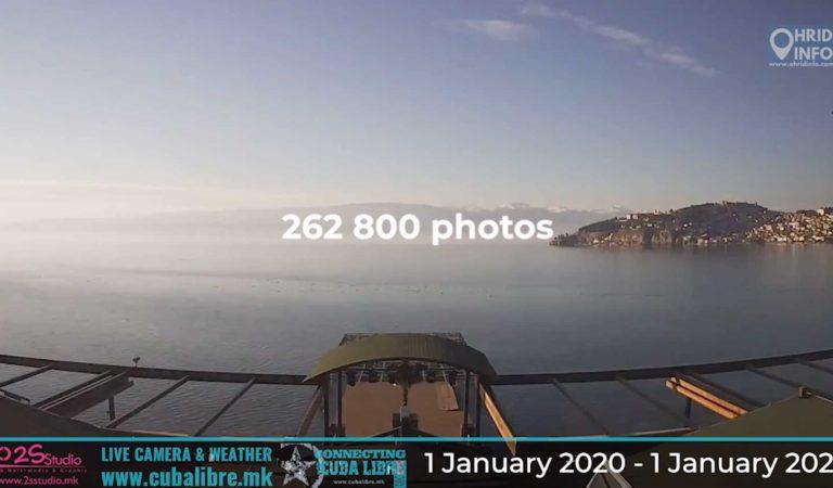 262 800 фотографии во едногодишен 6 минутен тајм лапс од Охрид, за прв пат во Македонија