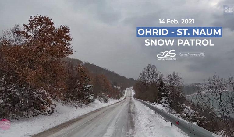 Видео: Snow Patrol Виртуелно возење во зимски услови од Охрид до Св. Наум